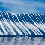 Blue Ice with wave pattern