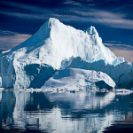 Iceberg with reflection