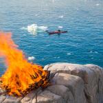 Bonfire at Hotel Icefjord, Ilulissat