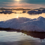 Evening light, Disko Bay, Greenland